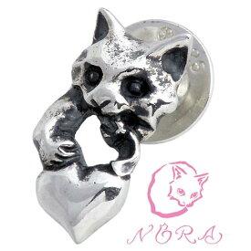 ノラ NORA のら 子ネコのイタズラ シルバー ピアス アクセサリー 猫 ねこ ネコ 片耳用 シルバー925 スターリングシルバー NR-PE-0002