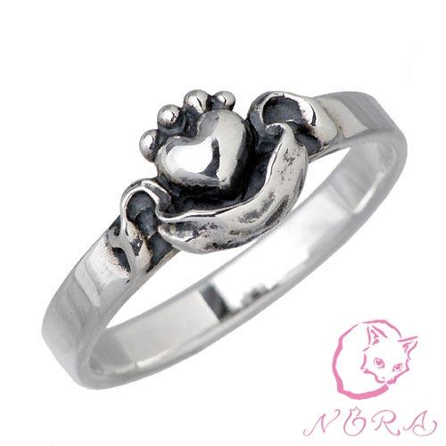 NORA【のら ノラ】 お届け中 シルバー リング 猫 ねこ ネコ 指輪 1号〜23号 シルバーアクセサリー シルバー925 NR-R-0004