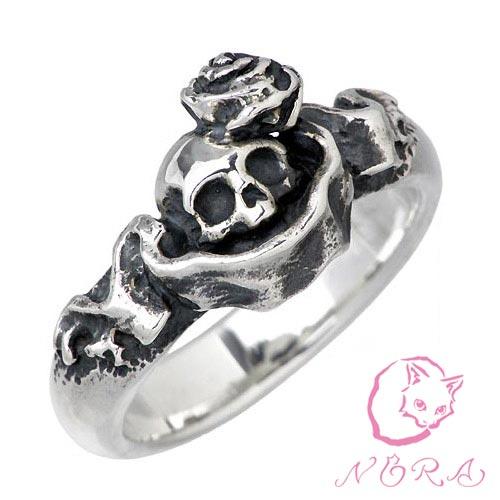 NORA【のら ノラ】 大きなピュアソウル シルバー リング 猫 ねこ ネコ 指輪 5号〜23号 シルバーアクセサリー シルバー925 NR-R-0007
