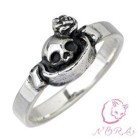 ノラ NORA のら 小さなピュアソウル シルバー リング 猫 ねこ ネコ 指輪 アクセサリー 1号〜23号 シルバー925 スターリングシルバー NR-R-0008