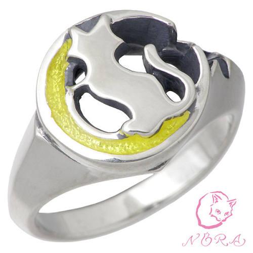 NORA X Sies【のら ノラ】 ムーンキャット シルバー リング 指輪 7〜21号 シルバーアクセサリー シルバー925 NR-EV-R-0001