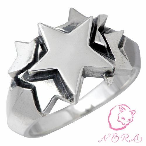 NORA【のら ノラ】 ファイブスター シルバー リング 指輪 シルバーアクセサリー シルバー925 NR-R-0025