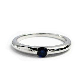 シルバー リング 誕生石 一粒カラーストーン 9月 サファイア 指輪 シルバーアクセサリー シルバー925 AH87-09