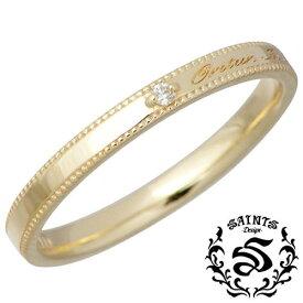 SAINTS【セインツ】 ダイヤモンド メッセージ K10 リング 指輪 5〜13号 SSR2-118D
