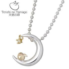 Tenshi no Tamago【天使の卵】 天使の卵 バースデー シルバー ネックレス 天使115 誕生石付き 三日月 シルバーアクセサリー シルバー925 シルバー950 tenshi-115