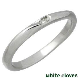 white clover【ホワイトクローバー】 リング 指輪 金属アレルギー対応 シェア ハート ステンレス 7〜30号 ダイヤモンド 誕生石 刻印可能 アレルギーフリー 4SUR102L-RD