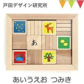 \本日はP10倍/戸田デザイン研究室 あいうえお つみき かな積み木 積み木 知育玩具 ひらがな 絵本 ことば学習 入園祝い ※T0Y
