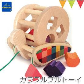 【ボーネルンド日本正規品】ボーネルンド BAJO(バヨ) カラフルプルトーイ|木のおもちゃ 知育玩具 手押し車・カタカタ