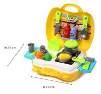 【送料無料】おままごとおもちゃセットどこでもいっしょ♪ままごとキッチン簡単収納!おままごとセットコンパクト人気おでかけセットおもちゃ女の子1歳2歳3歳