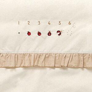 ベビー寝具 [ ミニ 掛けカバーリング てんとう虫 ]ミニふとん用 洗い替え用 掛けふとん用 オーガニックコットン 日本製