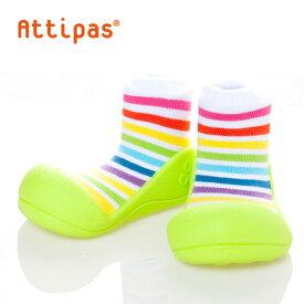 アティパス/Attipas Rainbow (レインボー)【・送料無料・熨斗無料】 ファーストシューズ/ベビーシューズ/子供靴/赤ちゃんシューズ/トレーニングシューズ/生後5か月/1歳/1歳半/ベビー用品/出産祝い/ギフト 