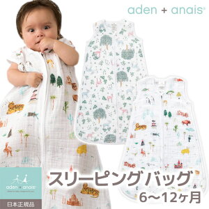 aden+anais(エイデンアンドアネイ)SleepingBagモスリンスリーピングバッグ1枚重ね<日本正規品>【楽ギフ_包装選択】【あす楽対応】【出産祝い】女の子【出産祝い】男の子