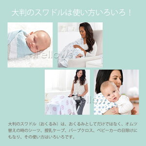 エイデンアンドアネイギフトセット(スワドル1枚・スナップビブ3枚・マージーメイトラビー)日本正規品