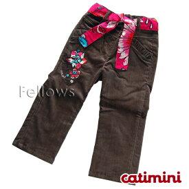 catimini-キャティミニ- ショッキングピンクの腰ひも付きパンツ サイズ:18ヶ月・4歳
