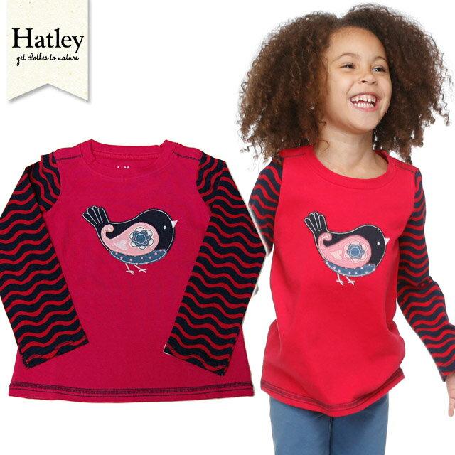 Hatley(ハットレイ)おしゃれな女の子にぴったり!【長袖カットソー】<アップリケタイプ>サイズ:2歳・3歳・4歳★女の子用【お誕生日】3歳:女【お誕生日】4歳:女
