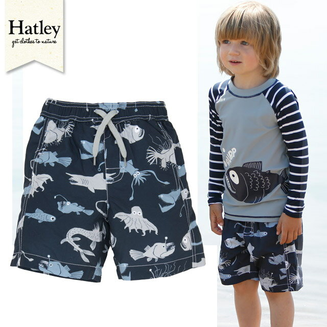 Hatley(ハットレイ)かっこいいプリント☆【ショートサーフ水着】サイズ:2歳・3歳・4歳★男の子用【お誕生日】3歳:男【お誕生日】4歳:男
