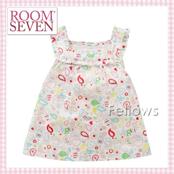 ROOM SEVEN(ルームセブン)【Belisa blouse】ノースリーブチュニック(ペイズリー模様)92(3-4歳)・104(4-5歳)サイズ★女の子用【お誕生日】3歳:女【お誕生日】4歳:女