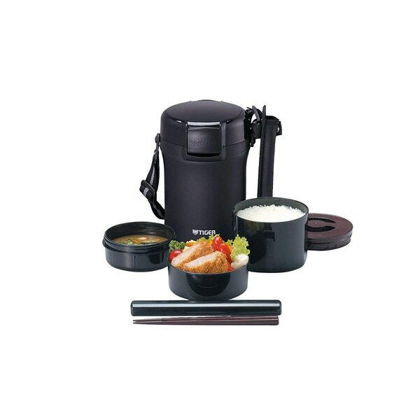 タイガー ステンレスランチジャー 茶碗 約3杯分 ブラック LWU-A172-KM