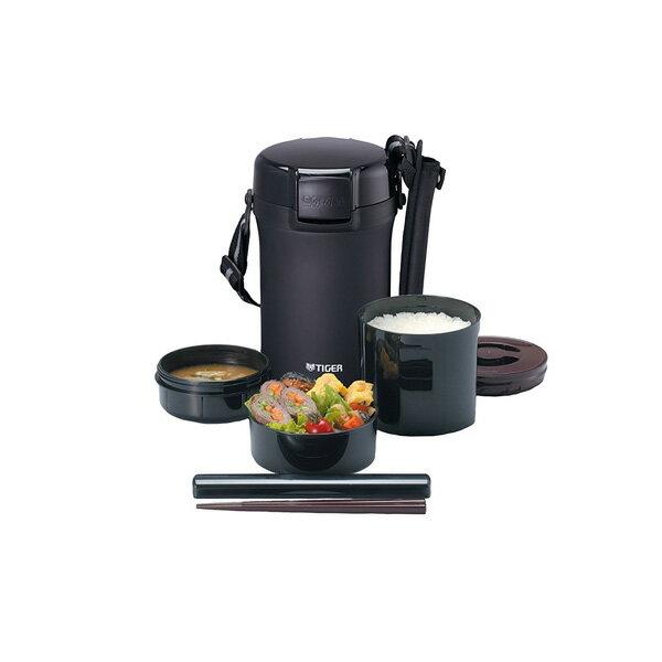 タイガー ステンレスランチジャー 茶碗 約4杯分 ブラック LWU-A202-KM