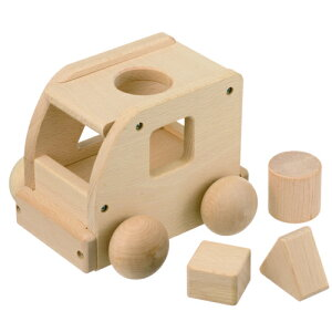 森のメロディーバス【日本製】 オルゴール&パズルブロック付き 木製品