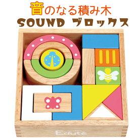SOUND ブロックス 積み木 つみき エデュテ パステル 15ピース 音のなる サウンドブロックス 長く遊べる 10ヶ月 1歳 2歳 ビーズ 安全 パズル 記憶力 男の子 女の子 木製 音が鳴る edute 子供 木のおもちゃ 知育 お祝い 誕生日