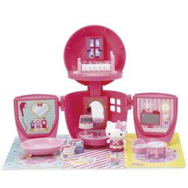 ハローキティ りんごのお部屋 キティちゃん 人形 小物 おもちゃ キティグッズ セット 道具 いろいろ 遊び方 たくさん カラフル ハウス型 変身 キッズ 家 ごっこ遊び りんご型 コンパクト クリスマス