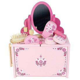 【クレカ5%還元】おままごとセット ドレッサーセット 竹製 ドレッサーセット お化粧 グッズ 収納付き おもちゃ おままごと かわいい 女の子 おしゃれ ピンク 高級 トライブ