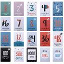 誕生月カード カード 誕生月 色々 柄 数字 英語 カラフル インスタ 写真 飾り 紙 かわいい おしゃれ デザイン 室内 組み合わせ 自由