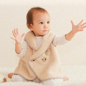 【ネコポス対応】体温調節が苦手なベビーのための『くまさんあったかルームベスト』(出産祝い・防寒・防寒着・赤ちゃん・ベスト・ルームウェア・0歳)【平日10時までの注文は当日出荷】