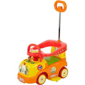 押し手付乗用 ワンワンとうーたん♪らくらくキャスターα 乗用玩具 押し車 足けり乗用 いないいないばあっ! こどもの乗り物 カジキリ機能付【ワールド 野中製作所】