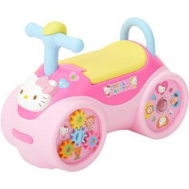 ハローキティらくらくキャスター 室内乗用玩具 押し車 足けり乗用  【ワールド 野中製作所】