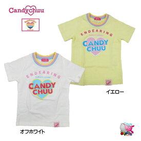 Candychuu 新作 キャンディチュウ 2019春夏 発泡ロゴシャツ 半袖 オフホワイト イエロー ※メール便OK