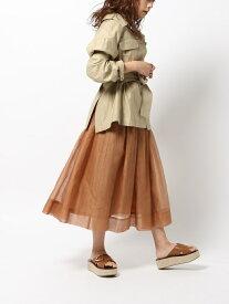 [Rakuten Fashion]【SALE/60%OFF】ベルオーガンギャザーSK BABYLONE バビロン スカート プリーツスカート/ギャザースカート ブラウン グリーン【RBA_E】【送料無料】
