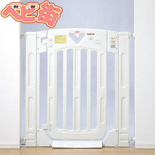 日本育児 スマートゲイト2 [ミルキー]/ ホワイト ベビーゲート ベビーゲイト 本体 セーフティゲート 安全 スマートゲート プラスチック SoDo