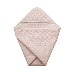 日本製 コットンスムース ベビーアフガン おくるみ ピンク