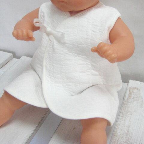 新生児ベビー用 中わた入り あったかインナーベスト ホワイト