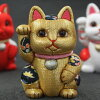 Product made in beckoning cat ornament size kimono-dressed wooden doll Toko Kakinuma Japan