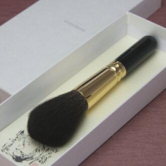 熊野刷子和更好的古堂 (houkodou) 化妆刷松鼠的圆圆的脸刷 (G-F2)