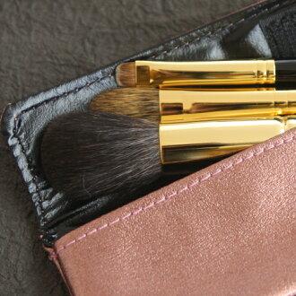 熊野刷子和更好的古堂 (houkodou) 的化妆刷化妆刷 3 设置
