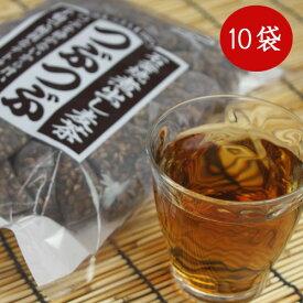 【つぶまるの増量版】 つぶつぶ 麦茶 小川産業 1ケース(24パック入り×10袋) 小川の煮出し麦茶 石釜焼き