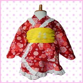 9768352e09635 80 90 95 100cm ETK 浴衣 ワンピース ドレス 日本製花柄 ミニ