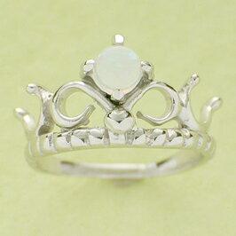 ベビーリング 刻印 ティアラベビーリング 誕生石 10月 オパール 宝石箱セット チェーン付 名入れ可