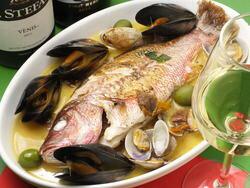 天然鯛のアクアパッツァ メイン料理 ご自宅で 簡単調理 ご注文合計金額1万円以上で 送料無料 冷凍オードブル ホームパーティに