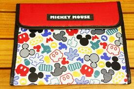 クーザDisney MICKEY MOUSE ミッキーマウス(アイコンレッド)ジャバラマルチケース(母子手帳ケース)DJM-2407K
