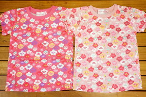 【ネコポス利用!送料無料】ナカタ BANDIアンパンマン女児和柄半袖Tシャツ(ドキンちゃんコキンちゃん総柄)機能性素材TA3232 90cm-100cm