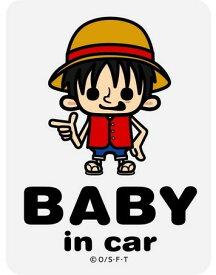 【ネコポス利用!送料無料】ゼネラル セーフティサインBABY IN CAR ONE PIECEパンソンワークスコラボ ルフィLCS-023