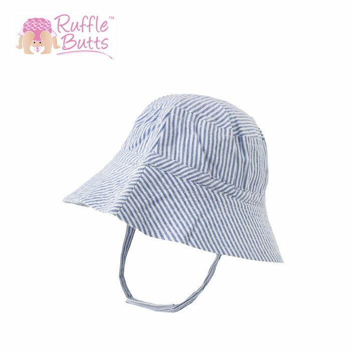【全品10%オフクーポン】 ラッフルバッツ 帽子 RUFFLE BUTTS rufflebutts 日よけ ベビー帽子 ベビーハット サンハット ハット シアサッカー ブルー