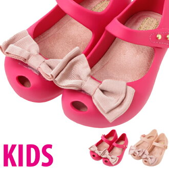 梅利莎孩子迷你梅利莎超女孩甜蜜迷你梅利莎 Ultragirl 甜超女孩弓 Ultragirl 的弓鞋迷你梅利莎的女孩鞋孩子鞋橡胶鞋梅丽莎 ultragirl 儿童凉鞋