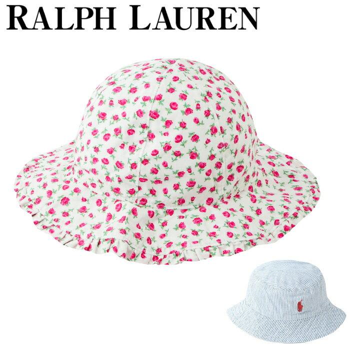 【全品15%オフクーポン】 Ralph Lauren ポロ ラルフローレン ベビー ハット POPLIN-FLORAL HAT-AC-HAT BG 帽子 polo コットン 男の子 女の子 子供 帽子