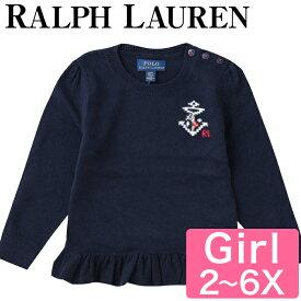 【10%オフクーポン】 Polo Ralph Lauren キッズ 女の子 セーター ラルフ キッズ ベビー カシミア Polo Cotton-Cashmere Peplum Sweater GIRLS 2-6X 幼児 女の子 上品 おでかけ 服 おでかけ服